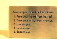 5 REGULI SIMPLE PENTRU FERICIRE !